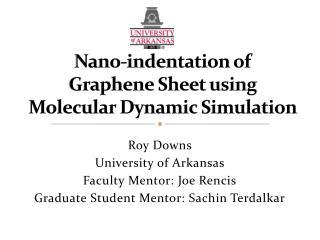Nano-indentation of  Graphene Sheet using  Molecular Dynamic Simulation