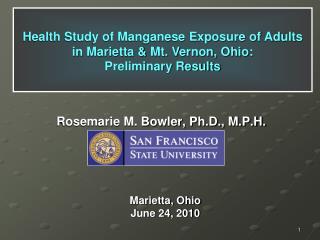 Rosemarie M. Bowler, Ph.D., M.P.H.