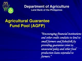 Department of Agriculture Land Bank of the Philippines