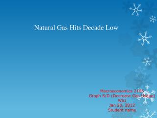 Natural Gas Hits Decade Low