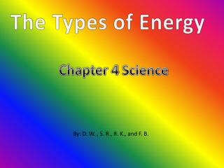 The Types of Energy