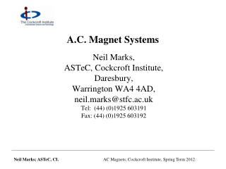 A.C. Magnet Systems