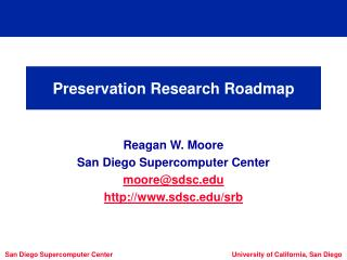 Preservation Research Roadmap