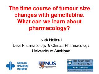 The time course of tumour size changes with gemcitabine. What can we learn about pharmacology?