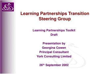 Learning Partnerships Transition Steering Group