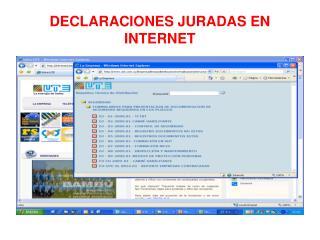 DECLARACIONES JURADAS EN INTERNET