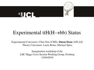 Experimental ttH(H  bb) Status