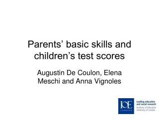 Parents' basic skills and children's test scores