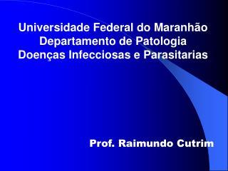 Universidade Federal do Maranhão Departamento de Patologia Doenças Infecciosas e Parasitarias