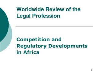 Worldwide Review of the Legal Profession