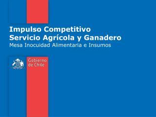 Impulso Competitivo Servicio Agr�cola y Ganadero
