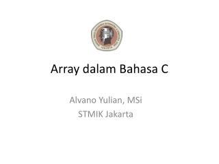 Array dalam Bahasa C