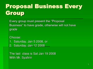 Proposal Business Every Group