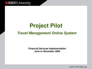 Project Pilot Travel Management Online System