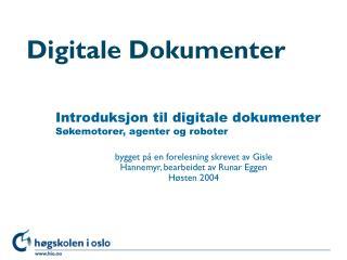 Digitale Dokumenter
