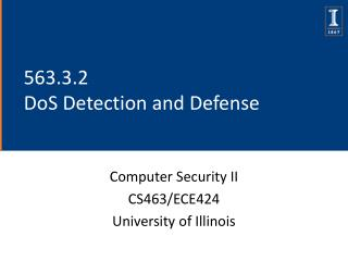 563.3.2  DoS Detection and Defense
