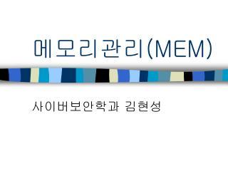메모리관리 (MEM)