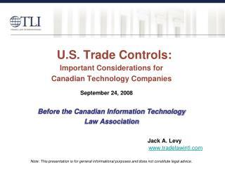 U.S. Trade Controls: