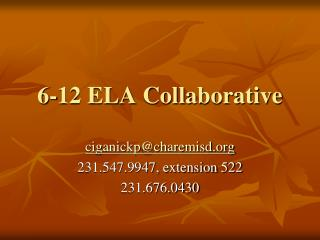 6-12 ELA Collaborative