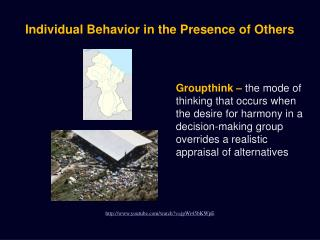Individual Behavior in the Presence of Others