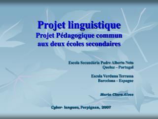 Projet linguistique Projet Pédagogique commun  aux deux écoles secondaires