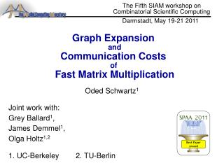 Graph Expansion  and Communication Costs  of  Fast Matrix Multiplication