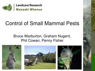 Control of Small Mammal Pests