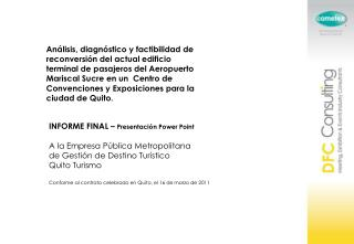 INFORME  FINAL –  Presentación  Power  Point