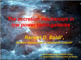 The accretion mechanism in low power radio-galaxies