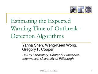 Estimating the Expected Warning Time of Outbreak-Detection Algorithms