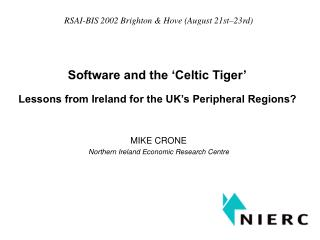 Software and the 'Celtic Tiger'
