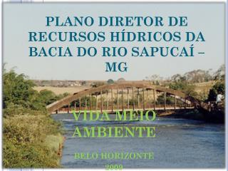 PLANO DIRETOR DE RECURSOS HÍDRICOS DA BACIA DO RIO SAPUCAÍ – MG
