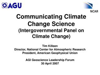 Communicating Climate Change Science (Intergovernmental Panel on Climate Change)
