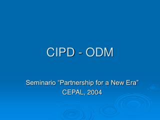 CIPD - ODM