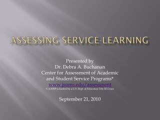 Assessing Service-learning