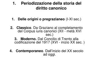 Periodizzazione della storia del diritto canonico