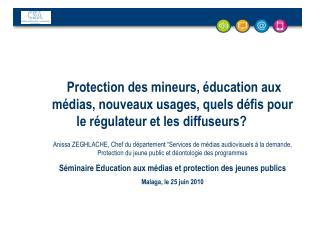 Introduction I.        Le cadre juridique II.       Contexte et enjeux