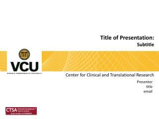 Title of Presentation: Subtitle