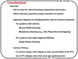 Timing Methodology