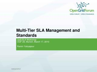 Multi-Tier SLA Management and Standards