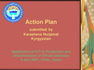 Action Plan submitted by Karasheva Nurjamal Kyrgyzstan