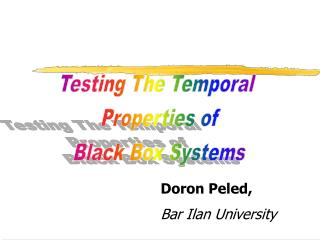 Doron Peled, Bar Ilan University