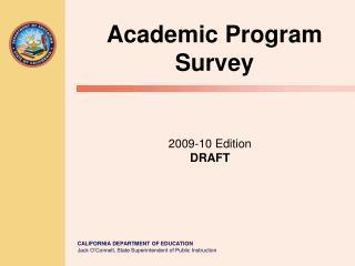 2009-10 Edition DRAFT
