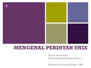 MENGENAL PERINTAH UNIX