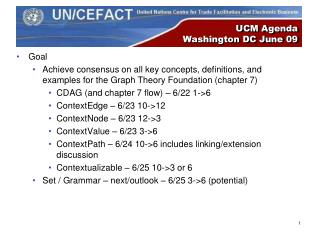 UCM Agenda Washington DC June 09