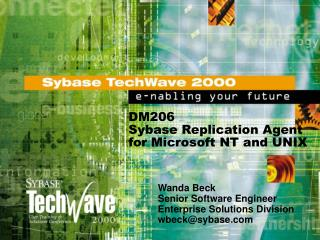 DM206 Sybase Replication Agent for Microsoft NT and UNIX