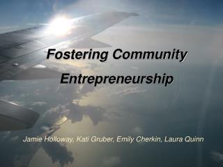 Fostering Community Entrepreneurship