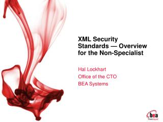 XML Security Standards   Overview for the Non-Specialist