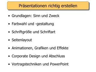 Präsentationen richtig erstellen