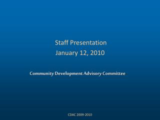 Community Development Advisory Committee